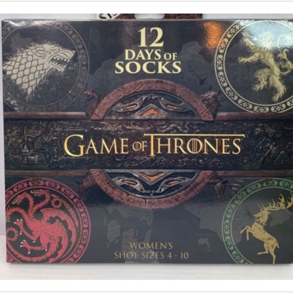 db5e5493d6486 Accessories | Game Of Thrones Womens 12 Days Of Socks | Poshmark